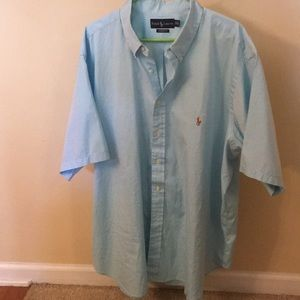 Ralph Lauren 👕  Mens blue size 19 34/35 Big mans